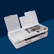 2 PCS Double-Layer Clamshell Mobile Phone Repair Parts Turnover Box Mobile Phone Disassembly  Screw Component Storage Box