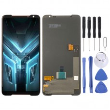 AMOLED Material LCD Screen and Digitizer Full Assembly for Asus ROG Phone 3 ZS661KS (Black)