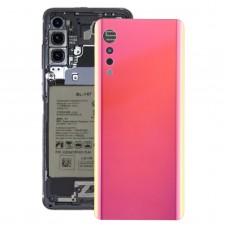 Battery Back Cover for LG Velvet LMG910EMW LM-G910EMW / Velvet 5G LM-G900N LM-G900EM(Red)