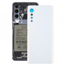 Battery Back Cover for LG Velvet LMG910EMW LM-G910EMW / Velvet 5G LM-G900N LM-G900EM(White)