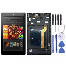 LCD Screen and Digitizer Full Assembly With Frame for Amazon Kindle Fire HD 7 2019 9th M8S26G (Black)