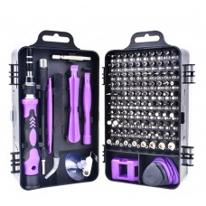 115 in 1 Precision Screw Driver Mobile Phone Computer Disassembly Maintenance Tool Set(Purple)