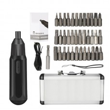3.6V Electric Screwdriver Manual Automatic Integrated Multi-Function Charging Screwdriver Set, Classification: Aluminum Box Package