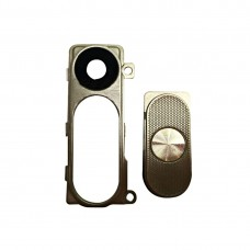 Back Camera Lens Cover + Power & Volume Buttons  for LG G3 / D855(Gold)