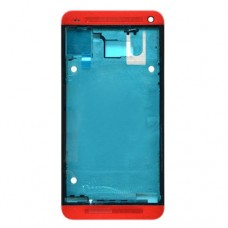 Front Housing LCD Frame Bezel Plate  for HTC One M7 / 801e(Red)