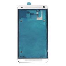 Front Housing LCD Frame Bezel Plate  for HTC One M7 / 801e(White)