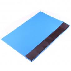 OSS Team Maintenance Platform High Temperature Heat-resistant Magnetic Anti-static Repair Insulation Pad Silicone Mats, Size: 35 x 25cm (Blu