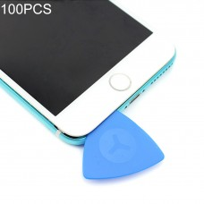 100 PCS JIAFA P8818 Plastic Phone Repair Triangle Opening Picks(Blue)