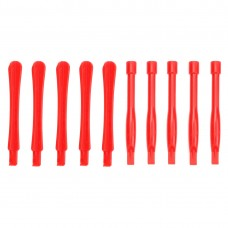 10 PCS Mobile Phone Repair Tool Spudgers (5 PCS Round + 5 PCS Square)(Red)