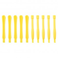 10 PCS Mobile Phone Repair Tool Spudgers (5 PCS Round + 5 PCS Square)(Yellow)