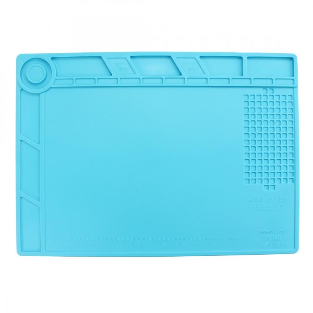 Maintenance Platform High Temperature Heat-resistant Repair Insulation Pad Silicone Mats, Size: 34.8cm x 25cm (Blue)