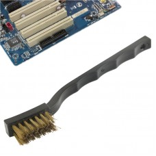 Electronic Component Curved Handle Anti-static Golden Brush, Length: 17.5cm