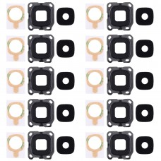 10 PCS Back Camera Bezel & Lens Cover with Sticker for Galaxy C5 Pro / C5010