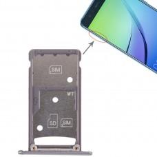 2 SIM Card Tray / Micro SD Card Tray for Huawei Enjoy 6 / AL00(Grey)