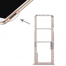 2 SIM Card Tray + Micro SD Card Tray for Huawei Enjoy 8 Plus(Gold)