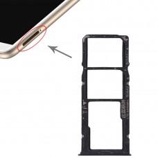 2 SIM Card Tray + Micro SD Card Tray for Huawei Enjoy 8 Plus(Blue)