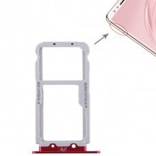 2 SIM Card Tray / Micro SD Card Tray for Huawei Nova 2s(Red)