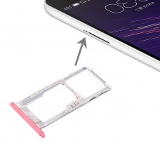 For Meizu Meilan Metal SIM + SIM / Micro SD Card Tray(Pink)