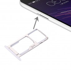 For Meizu Meilan Metal SIM + SIM / Micro SD Card Tray(White)