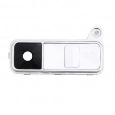 Back Camera Lens Cover + Power Button + Volume Button for LG K8(White)