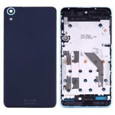 Full Housing Cover (Front Housing LCD Frame Bezel Plate + Back Cover) for HTC Desire 826(Blue)