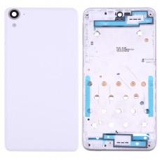 Full Housing Cover (Front Housing LCD Frame Bezel Plate + Back Cover) for HTC Desire 826(White)