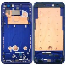 for HTC U11 Front Housing LCD Frame Bezel Plate(Dark Blue)