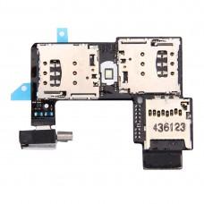 SIM Card Socket + SD Card Socket for Motorola Moto G (2nd Gen.) (Dual SIM Version)