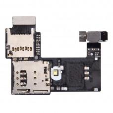 SIM Card Socket + SD Card Socket for Motorola Moto G (2nd Gen.) (Single SIM Version)