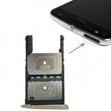2 SIM Card Tray + Micro SD Card Tray for Motorola Moto Z Play(Gold)