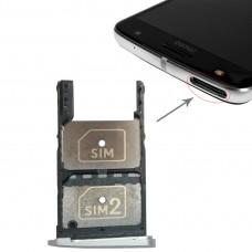 2 SIM Card Tray + Micro SD Card Tray for Motorola Moto Z Play(Silver)