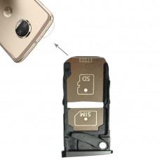 SIM Card Tray + Micro SD Card Tray for Motorola Moto Z2 Force(Black)