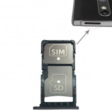 SIM Card Tray + Micro SD Card Tray for Motorola Droid Turbo 2 / XT1585(Grey)