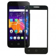 Front Screen Outer Glass Lens for Alcatel One Touch Pixi 3 4.5 / 5019 (Black)