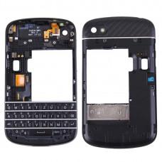 3 in 1 for BlackBerry Q10 (Keyboard + Middle Frame Bezel + Back Plate Housing Camera Lens Panel) Full Assembly Housing Cover