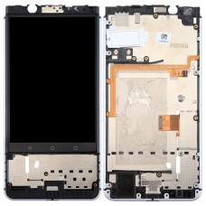 for BlackBerry Keyone LCD Screen and Digitizer Full Assembly with Frame(Silver)