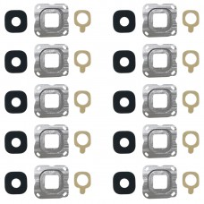 10 PCS Back Camera Bezel & Lens Cover with Sticker for Galaxy C7(Grey)