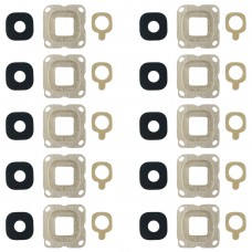 10 PCS Back Camera Bezel & Lens Cover with Sticker for Galaxy C7(Gold)