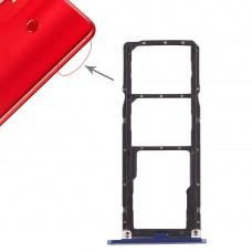 2 x SIM Card Tray / Micro SD Card Tray for Huawei Honor 8X Max (Blue)