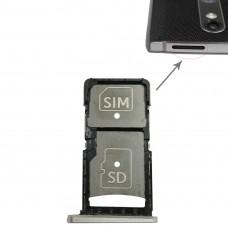SIM Card Tray + Micro SD Card Tray for Motorola Droid Turbo 2 / XT1585 (Gold)