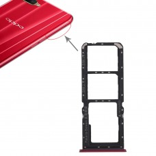 2 x SIM Card Tray + Micro SD Card Tray for OPPO K1(Red)