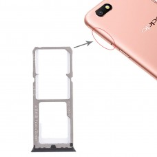 2 x SIM Card Tray + Micro SD Card Tray for OPPO A77(Black)