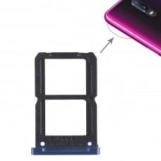 2 x SIM Card Tray for OPPO R17(Blue)