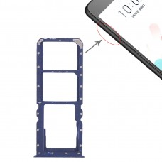 2 x SIM Card Tray + Micro SD Card Tray for OPPO A5 / A3s(Blue)