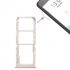 2 x SIM Card Tray + Micro SD Card Tray for OPPO A5 / A3s(Purple)