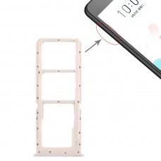 2 x SIM Card Tray + Micro SD Card Tray for OPPO A5 / A3s(Silver)
