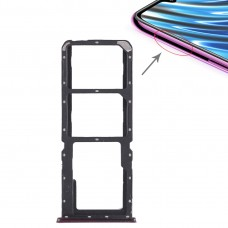 2 x SIM Card Tray + Micro SD Card Tray for OPPO A7x(Red)