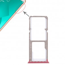 2 x SIM Card Tray + Micro SD Card Tray for OPPO A83(Red)