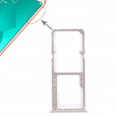 2 x SIM Card Tray + Micro SD Card Tray for OPPO A83(Rose Gold)