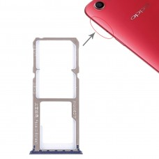 2 x SIM Card Tray + Micro SD Card Tray for OPPO A1(Blue)